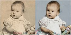 PHOTO RESTORATION example image a/b