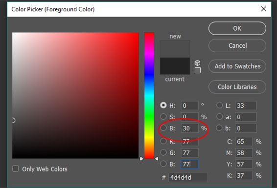 foreground color picker