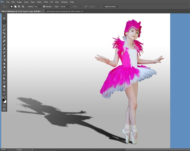 photoshop cast shadow effect final