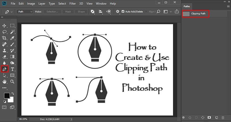 How to Create and Use Clipping Path in Photoshop