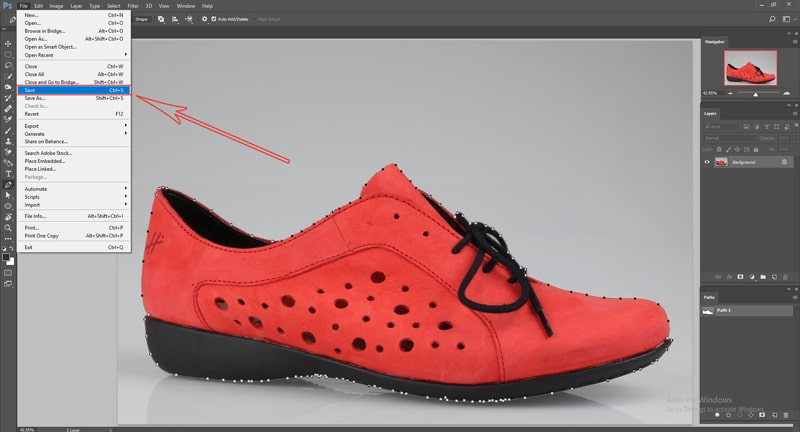 save clipping path in Photoshop