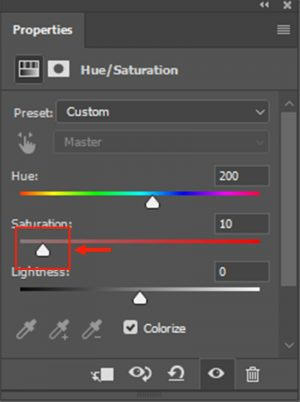 Modify the Saturation Value According to Make the Eye Color Natural