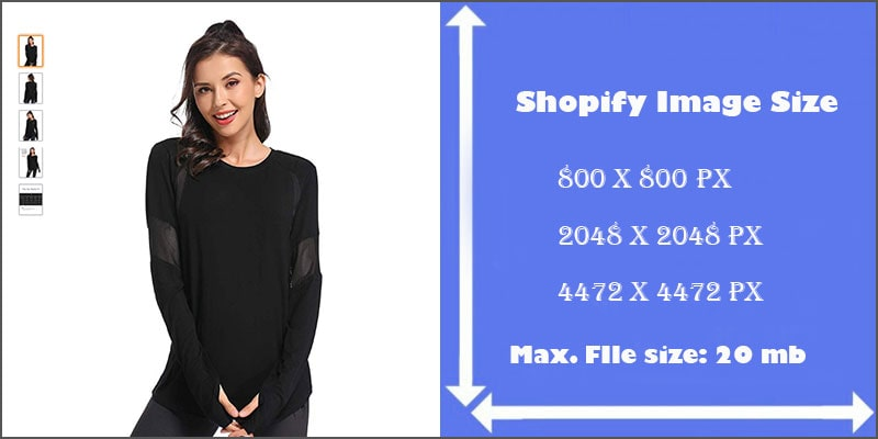 Shopify product Image Size-for eCommerce Business