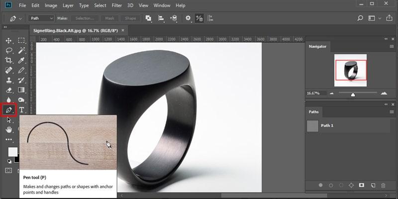 Take the cursor to Tool Panel