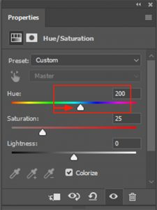 Using the Hue Slide Change the Color of Your Eyes