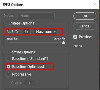 Baseline Optimized option