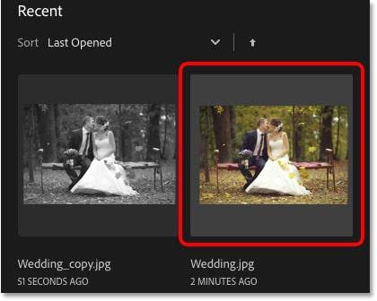 click on the original thumbnail
