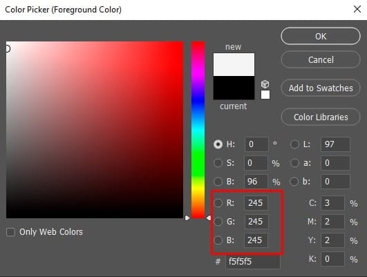 the Color Picker option