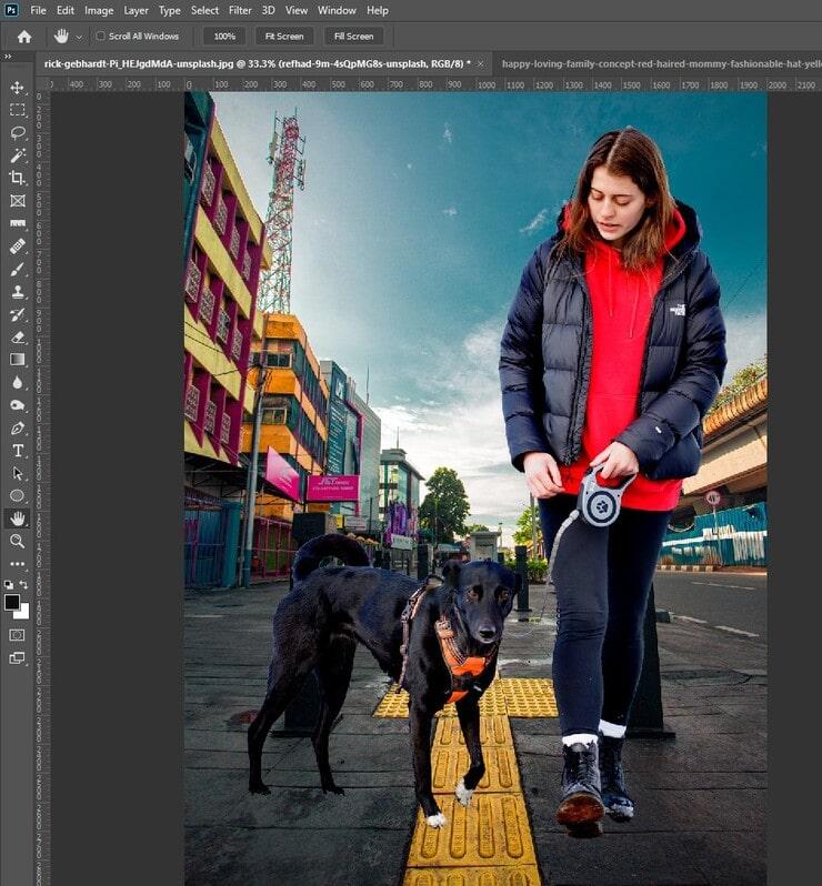 Background Change in Photoshop