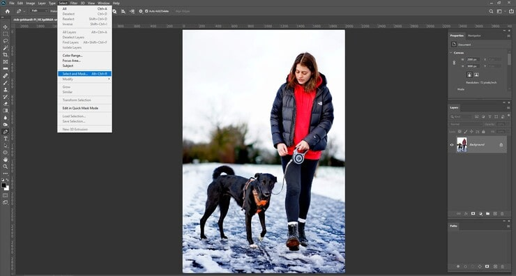 Make a Selection for Background Removing in Photoshop